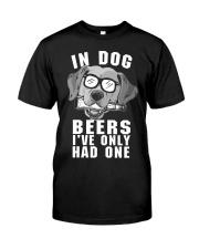 Golden Retriever Beer Classic T-Shirt front