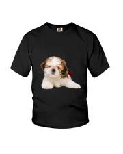 Shih Tzu Rose Youth T-Shirt thumbnail