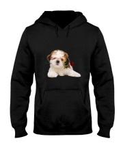 Shih Tzu Rose Hooded Sweatshirt thumbnail