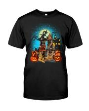 Gaea- German Shepherd Halloween-1508-22 Classic T-Shirt front