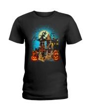 Gaea- German Shepherd Halloween-1508-22 Ladies T-Shirt thumbnail