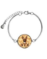 German Shepherd Great 1406 Metallic Circle Bracelet tile