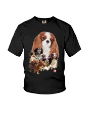 GAEA - Cavalier King Charles Spaniel Running 1603 Youth T-Shirt tile