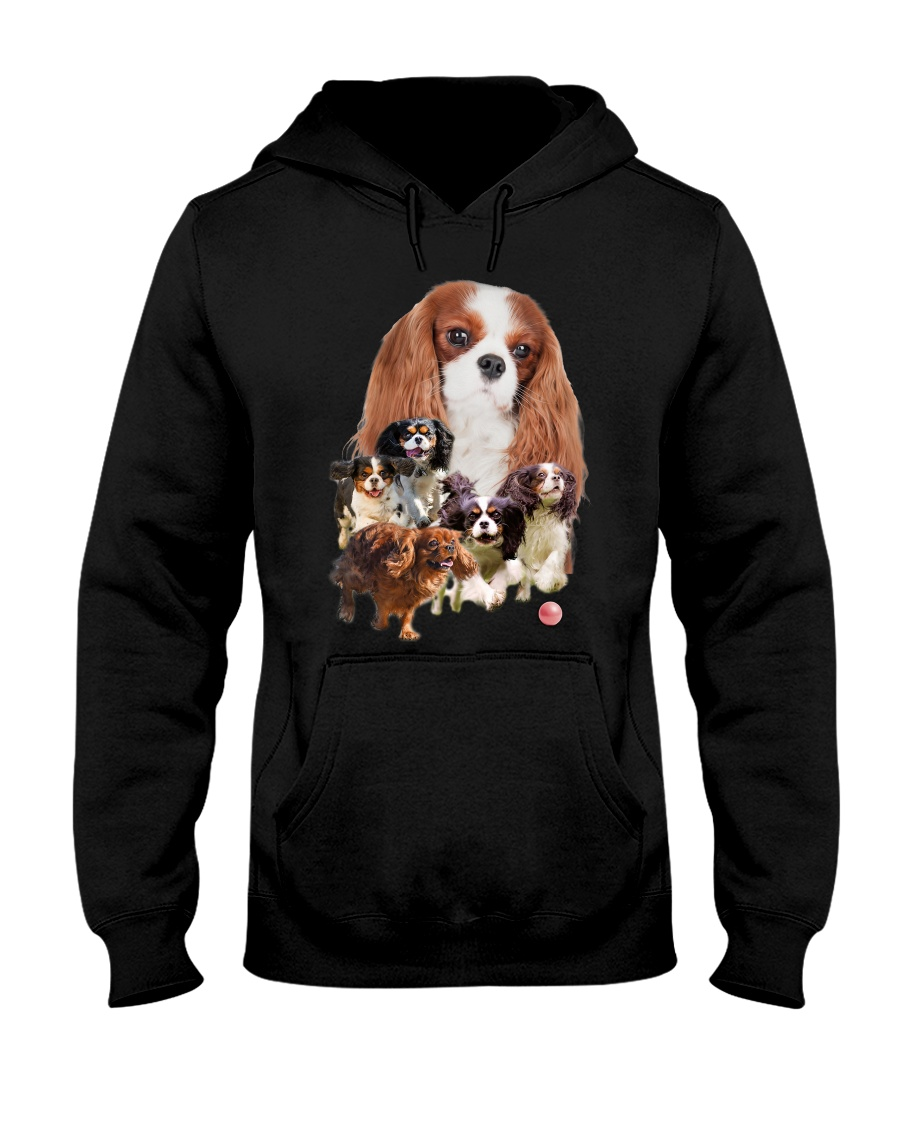 GAEA - Cavalier King Charles Spaniel Running 1603 Hooded Sweatshirt