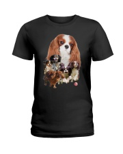 GAEA - Cavalier King Charles Spaniel Running 1603 Ladies T-Shirt thumbnail