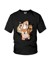 Shiba Inu Scratch - 0109 - 73 Youth T-Shirt tile