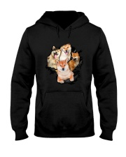Shiba Inu Scratch - 0109 - 73 Hooded Sweatshirt tile
