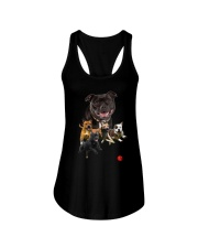 GAEA - Staffordshire Bull Terrier Runnig 1403 Ladies Flowy Tank thumbnail