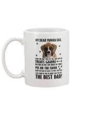 Boxer Dear Human Dad 0106 Mug back