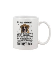 Boxer Dear Human Dad 0106 Mug front