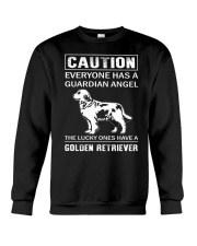 Golden Retriever Caution Crewneck Sweatshirt thumbnail
