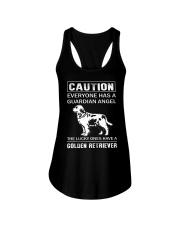 Golden Retriever Caution Ladies Flowy Tank thumbnail