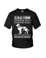 Golden Retriever Caution Youth T-Shirt thumbnail