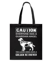 Golden Retriever Caution Tote Bag thumbnail