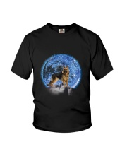 GAEA - German Shepherd Moon Bling 2703 Youth T-Shirt thumbnail
