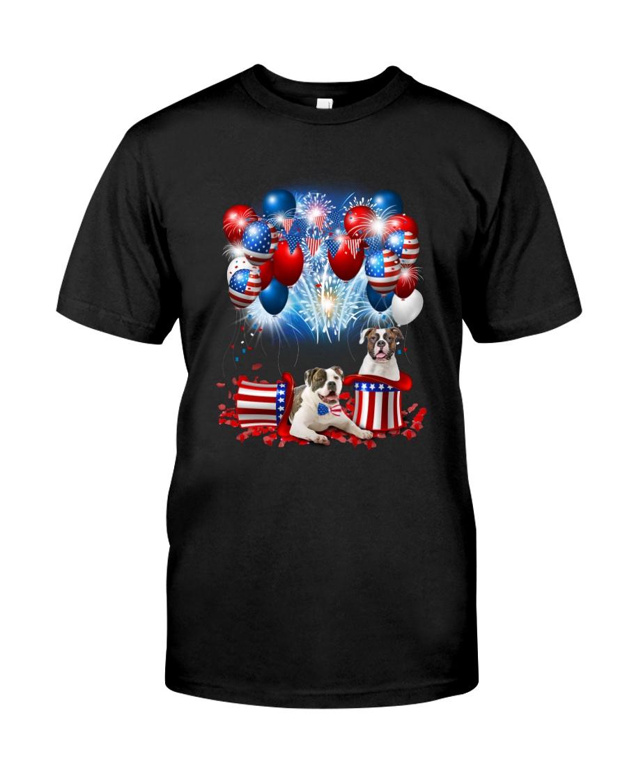 American Bulldog Holiday D2105 Classic T-Shirt