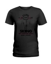 Skiing Good Choices 2504 Ladies T-Shirt thumbnail
