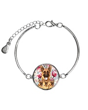 German Shepherd Flower 2304 Metallic Circle Bracelet thumbnail