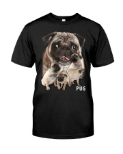 Pug Awesome Classic T-Shirt front