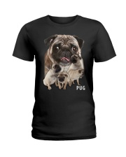Pug Awesome Ladies T-Shirt tile