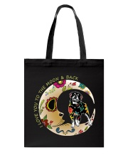 Rottweiler Bone Moon Tote Bag thumbnail