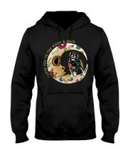Rottweiler Bone Moon Hooded Sweatshirt thumbnail