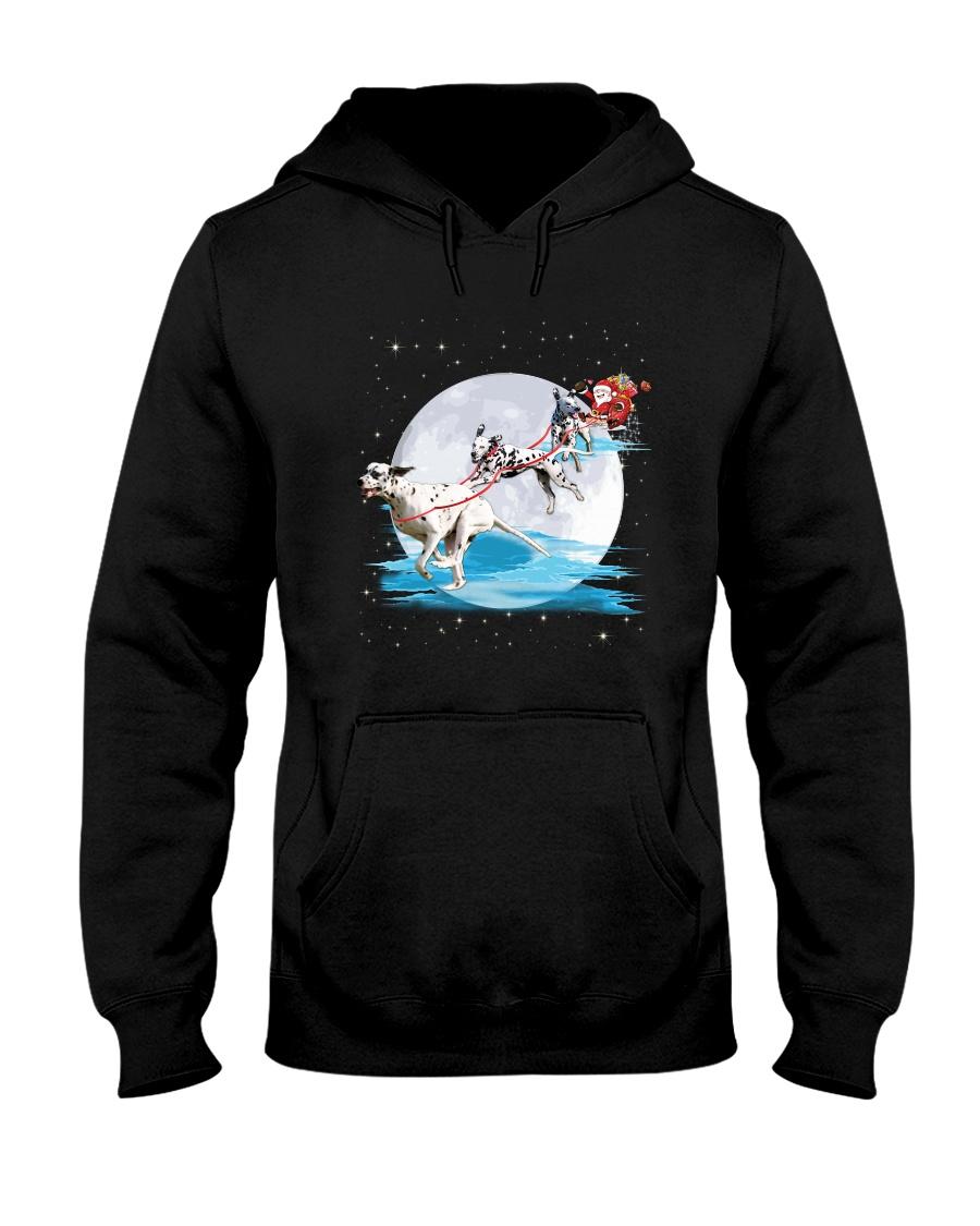 GAEA - Dalmatian Santa - 1011 - 62 Hooded Sweatshirt