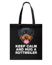 Rottweiler Keep Calm Tote Bag thumbnail