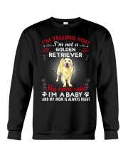 Golden Retriever Telling Mom Crewneck Sweatshirt thumbnail