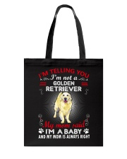 Golden Retriever Telling Mom Tote Bag thumbnail