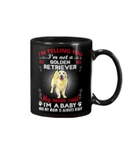 Golden Retriever Telling Mom Mug thumbnail