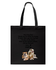 Bulldog Love Dad 3005 Tote Bag tile