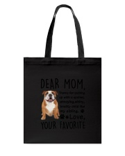Bulldog Dear Mom 2905 Tote Bag thumbnail