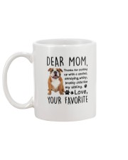 Bulldog Dear Mom 2905 Mug back