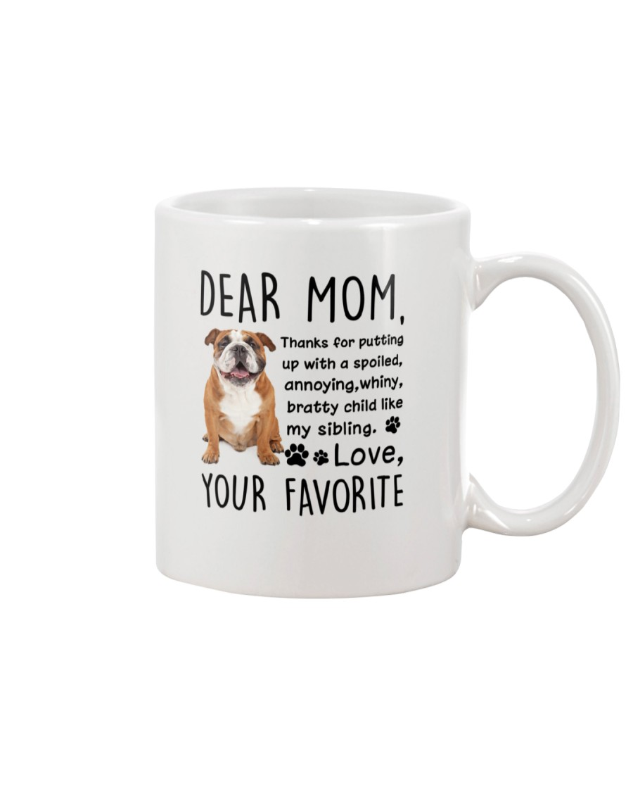 Bulldog Dear Mom 2905 Mug