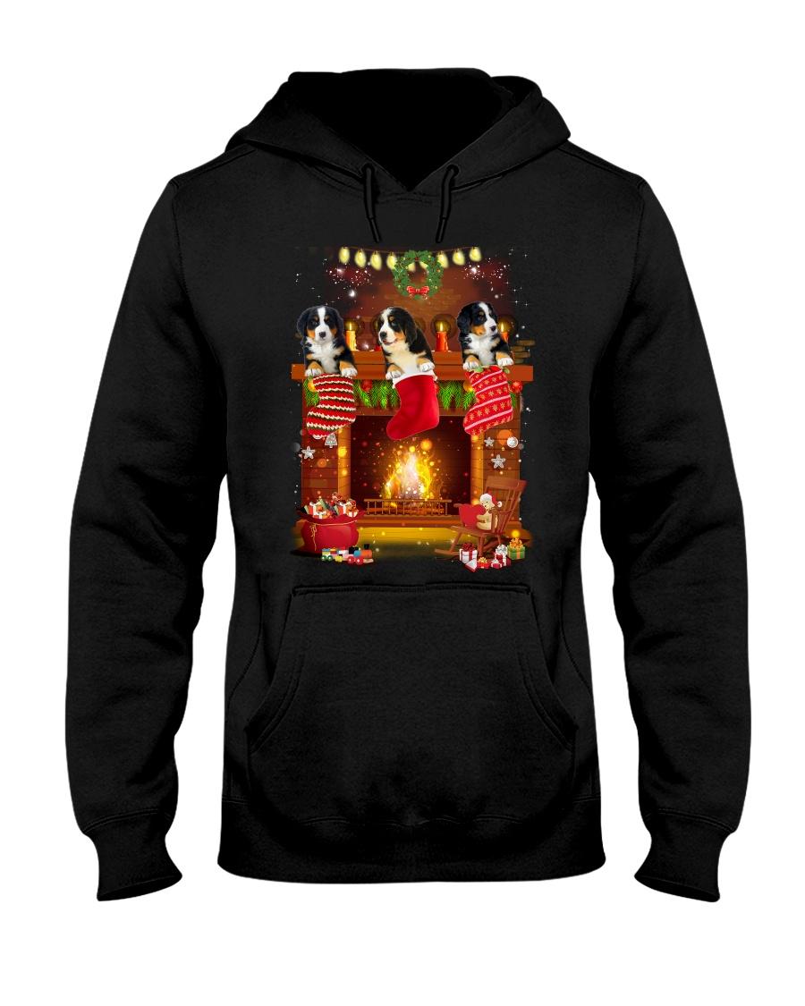 GAEA - Bernese Mountain Dog Pocket - 1311 - 78 Hooded Sweatshirt