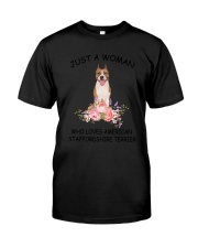 American Staffordshire Terrier Love Woman 2104 Classic T-Shirt front