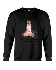 American Staffordshire Terrier Love Woman 2104 Crewneck Sweatshirt thumbnail
