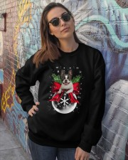 NYX - Boston Terrier Xmas - 0610 Crewneck Sweatshirt lifestyle-unisex-sweatshirt-front-3