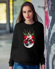 NYX - Boston Terrier Xmas - 0610 Crewneck Sweatshirt lifestyle-unisex-sweatshirt-front-9
