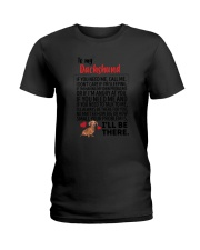 Dachshund Will Be There 0606 Ladies T-Shirt thumbnail