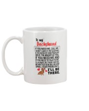 Dachshund Will Be There 0606 Mug back