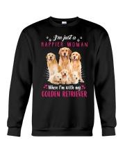 GAEA - Golden Retriever Happier 0304 Crewneck Sweatshirt thumbnail