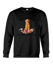 Golden Retriever Love Woman 2104 Crewneck Sweatshirt thumbnail