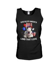 Bull Terrier I Love USA 0606 Unisex Tank thumbnail
