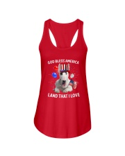 Bull Terrier I Love USA 0606 Ladies Flowy Tank front