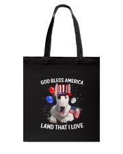 Bull Terrier I Love USA 0606 Tote Bag thumbnail