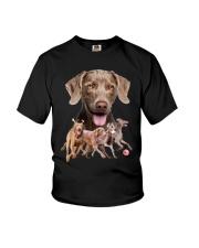 GAEA - Weimaraner Running 1603 Youth T-Shirt thumbnail