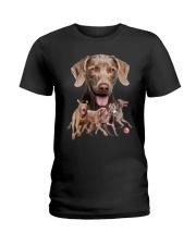 GAEA - Weimaraner Running 1603 Ladies T-Shirt thumbnail
