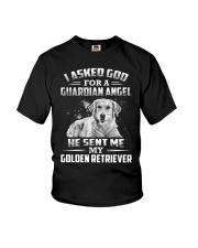Golden Retriever Angel Youth T-Shirt thumbnail
